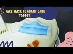 How To Make Face Mask Fondant Cake Topper 😷 - YouTube Medical Cake, Simple Cake Designs, Fondant Tutorial, Fondant Toppers, Fondant Figures, Cake Creations, Mask Making, Face, Drink