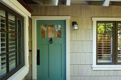 House of Turquoise: Painted Door  Sherwin Williams 6214 Underseas