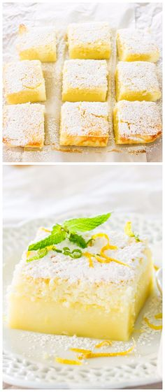 Lemon Magic Cake Ingredients: 4 eggs (separate yolks from whites) at room temperature 1 tsp vanilla extract 150 g cup) sugar 125 g stick or ½ cup) butter, melted 115 g oz or ¾ cup… Lemon Dessert Recipes, Lemon Recipes, Baking Recipes, Cake Recipes, Just Desserts, Delicious Desserts, Yummy Food, Pavlova, Cupcakes