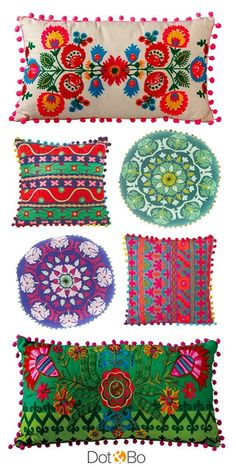 Fun and colorful pillows