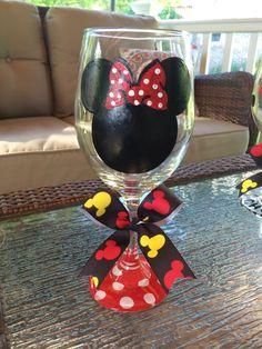 Minnie Mouse Wine Glass