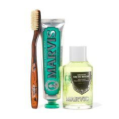 Marvis Exclusive Toothbrush, Toothpaste, and Mouthwash Concentrate Bundle…