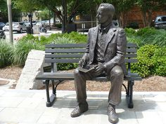 Charles H. Townes Statue in Greenville, SC