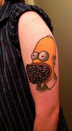 Have hit homer simpson tattoo vagina