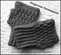 Hekel Idees: Gratis Patroon: Vingerlose Handskoene. Crochet Mitts, Crochet Gloves, Knit Or Crochet, Chrochet, Mittens Pattern, Fingerless Mittens, Mitten Gloves, Hand Warmers, Crochet Projects