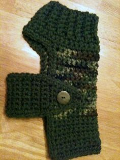 Dog Sweater, small dogs, dog clothing, sweaters, crochet, crochet sweaters, camoflage, green, pets, pet clothing. $15.00, via Etsy.