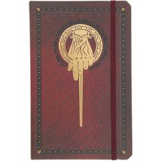 Game Of Thrones Hand Of The King Ruled Journal Hot Topic ($14) ❤ liked on Polyvore featuring home, home decor and stationery