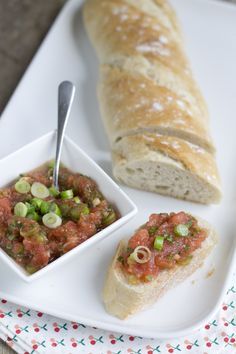 Bruschetta tomaten smeersel