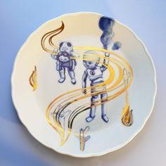 Zlaté plamínky - talíř