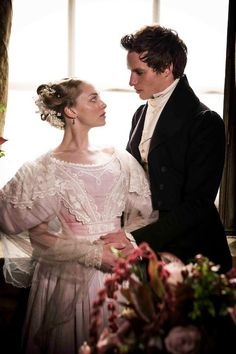 "Amanda Seyfried and Eddie Redmayne portray the characters of Cosette and Marius. on their wedding day from the film ""Les Miserables""....."