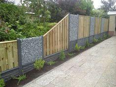 stenen schuttingen - Google Search Backyard, Exterior, Outdoor Structures, Outdoor Decor, Fences, Gates, Outdoors, Gardening, Sweet