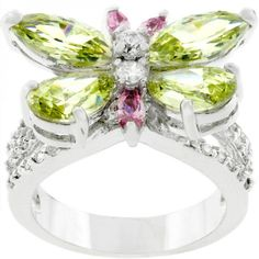 Silvertone Butterfly Cocktail Ring – MNM Gifts