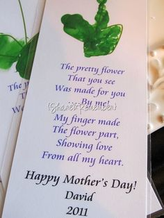 Share and Remember: Flower Bookmarks for Mom {Mother's Day}