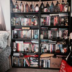 "buttermybooks: "" happiness is a full bookshelf """
