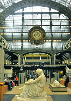 Musee D'Orsay. Home of the largest collection of impressionist and post-impressionist masterpieces in the world, by painters including Monet, Manet, Degas, Renoir, Cézanne, Seurat, Sisley, Gauguin and Van Gogh.