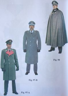 Bolivian Army officers and generals' winter uniforms.