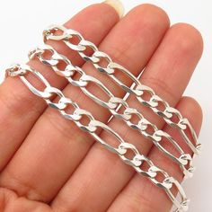 And Great Variety Of Designs And Colors Full Range Of Specifications And Sizes Vintage Bracelet 8 Inch Figaro 3 And 1 Link Italy Sterling Silver Famous For High Quality Raw Materials