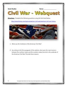 Civil War - Webquest with Key (History.com)