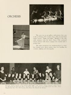 "Athena yearbook, 1957. ""Orchesis, OU's modern dance club presented their winter concert..."" :: Ohio University Archives"