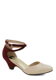 Style in the Spotlight Wedge, #ModCloth (think they'd be better all one color, but cute)