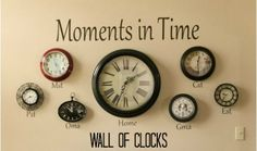 Wall of Clocks - includes time zones for grandparents…