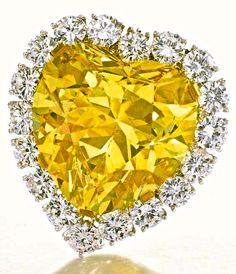 Fancy Intense Yellow Diamond Pendant ---Van Cleef & Arpels,