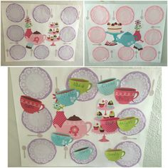 Pin the cup on the saucer! Tea Party Game idea. We had 2 set up, one for the…