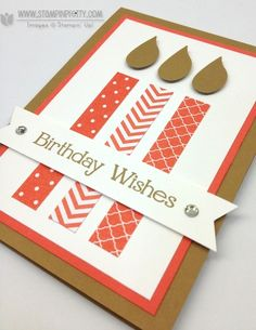 Stampin up stampinup birthday candles bird builder punch mary fish order stamps it card idea