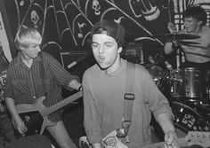 """Green Day's """"new"""" and present lineup performs on Jan. 26, 1991 in Downey Calif."""