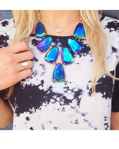 Harlow Statement Necklace in Black Iridescent - Kendra Scott Jewelry.