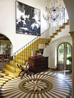 Traditional Entrance Hall by Madeline Stuart & Associates and Kevin A. Clark in Los Angeles
