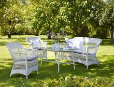 Sika Design Charlot chairs and sofa from the Georgia Garden collection. Available at http://www.sika-design.us