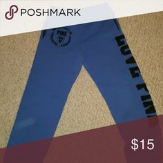 Sweat pants Blue sweats , size tag not there but should fit M or L PINK Victoria's Secret Pants Track Pants & Joggers