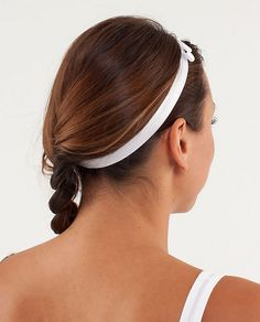 lululemon Prettiest Pirouette Headband for running/yoga... with a bow!