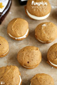 The classic New England dessert gets an update with pumpkin, spices, and maple!These Pumpkin Whoopie Pies with Maple Cream Cheese Frosting are the perfect fall dessert!