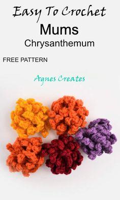 Crochet Fall, Free Crochet, Easy Crochet Patterns, Knitting Patterns, Learn To Crochet, Fall Decor, Free Pattern, Crochet Necklace, Tutorials
