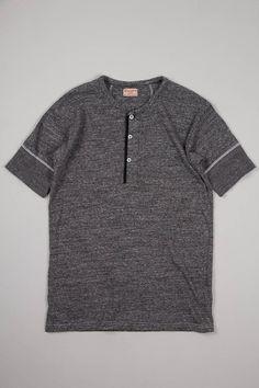 0710cd16ebd Standard Henley Mock Twist Jersey Short Sleeve from Homespun