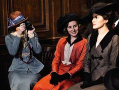 Behind the scenes with the daughters of Downton Abbey.      Love this!  I knew there was a reason the actress who plays Sybil was a favorite of mine (just like me to bring a camera)!  :)