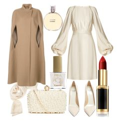 """merry and bright"" by hummeldumm ❤ liked on Polyvore featuring Chloé, Francesco Russo, Agnona, L'Oréal Paris, GUESS by Marciano, Chanel and ncLA"