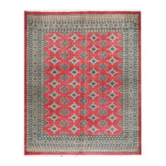 Herat Oriental Pakistani Hand-knotted Bokhara Red/ Beige Wool Rug (6'9 x 8'5) - Overstock Shopping - Big Discounts on Herat Oriental One of a Kind