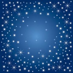 Snow and stars are falling on the blue background | Vector_Background_00000148