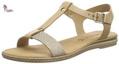 Tamaris  28149, Sandales Bout ouvert femme - Beige - Beige (NATURE COMB 378), 41 - Chaussures tamaris (*Partner-Link)