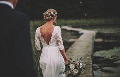 Beautiful Carolina in our Athena wedding gown. Photo: Johanna Rosenlew.
