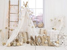 Christmas Noel ~ Fabric photography backdrop from Baby Dream Backdrops