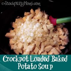Crockpot Loaded Baked Potato Soup recipe is amazing! So few ingredients needed. The whole family will love this soup for dinner.