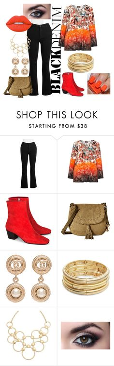 """Shades of Red"" by angelkyle on Polyvore featuring NYDJ, aprico, Dorateymur, Carlos by Carlos Santana, Chanel, Nanette Lepore, Vera Bradley, Lime Crime and plus size clothing"