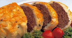 An all-time family favorite! Savory meat loaf with mashed potatoes and cheese on top. (From McCormick)