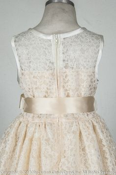 lace flower girl dresses in ivory and navy | Availability: Usually Ships in 3 to 5 Business Days.