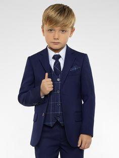 Boys blue & navy suit   Boys blue page boy suit   Kingsman   Roco