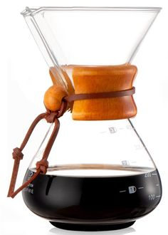 Diguo Pour Over Coffee Maker, Classic Series Glass Coffeemaker. Wooden Collar Handle with Leather Tie. Pour Over Coffee Maker, Classic Series, Appliance Parts, Coffee Machine, Small Appliances, Coffeemaker, Glass, Style, Kitchen
